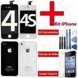 Tela Display Iphone 4 4s + Tampa + Ferramentas + Pel Vidro