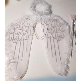 Set De Alas De Angel Con Halo Y Varita
