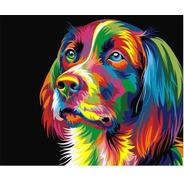 Pintura Numerada Cachorro Colorido