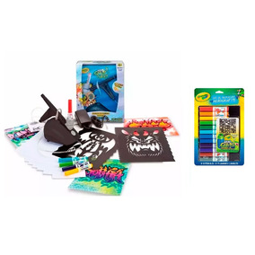 Kit Aerografiti Switch On + Refill Pack Plumines Crayola