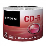 Cd Sony X 50 Unidades Cono Facturado Cd-r 700mb Itelsistem