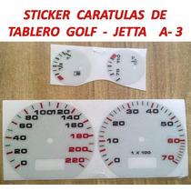 Sticker Vinil Reflejante Caratula Tablero A3 Mk3 Golf Jetta