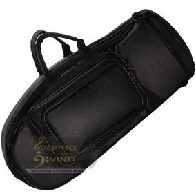 Semi Case Bag Para Trombonito Master Luxo Couro Pelucia