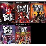 [ps2] Colección Guitar Hero (5 Juegos) Para Playstation 2