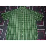 E Camisa Nautica Cuadros Verde Art 6886