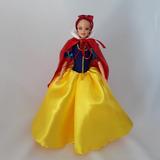 Vestido Fantasia P/ Boneca Barbie Branca De Neve