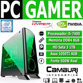 Pc Gamer Core I5 7400 8gb Ddr4 Hd 1tb Gtx 1050ti 4gb Cpu