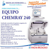 Equipo Automático De Química Sanguínea Chemray 240