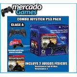 Joystick Ps3 Original Clase A Con 2 Juegos De Regalo