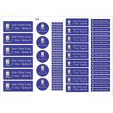 Kit Etiquetas Adesivas Personalizada Material Escolar Menino