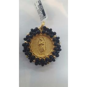 Medalla Dorada Con Perla
