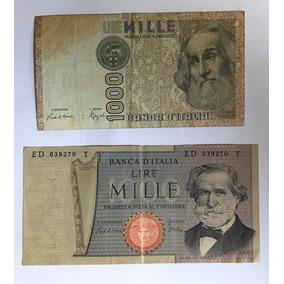 Billetes 2 De 1000 Liras Italia Exc Envio Gratis
