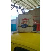 Hielera Pepsi Anigua Con Pintura Original