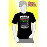 Camiseta Preta Dia Dos Pais - Papai Meu Herói