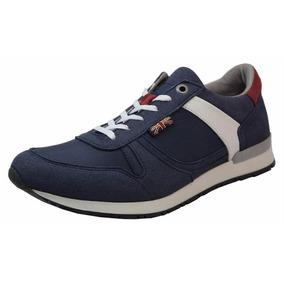 Tenis Pepe Jeans Logan Azul Marino Hombre Caballero Rudos