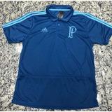 Camisa Futebol Palmeiras Polo Azul 2018/19