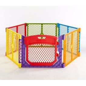 Corral Para Bebe Reja Cerca Niño Juego 6 Paneles Con Puerta