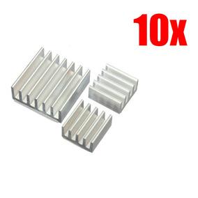 10x Dissipador Calor Raspberry Pi 2 Pi 3 C/ Adesivo Termico
