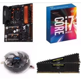 Combo I7 7700k + Gigabyte Z270x + 2x8gb 3200mhz + Cooler 7ma