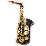 Saxofón Alto Afinado En Mib Marca Silvertone Exelente!