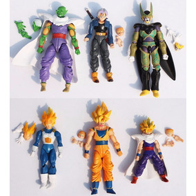 Una Figura Dragon Ball Z Goku Vegeta Trunks Gohan Articulada
