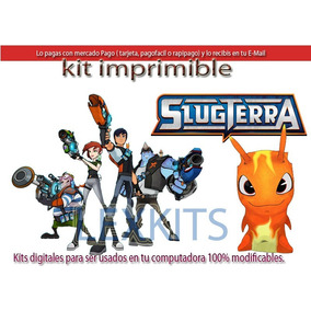 Kit Imprimible Candy Bar Slug Terra Slugterra Bajo Tierra