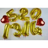 Globos De Números Metalizados 16 Pulgadas