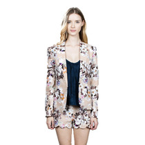 Blazer Formal De Estampado Floral Color Beige