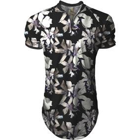 Camisa Longline Masculina Gola Polo Esporte Florido Swag