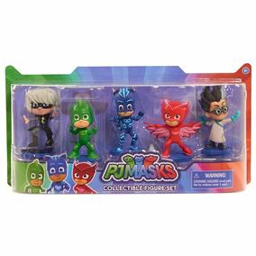 Pj Masks Set X 5 Muñecos Originales Heroes En Pijamas
