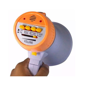 Megafone Sirene E Alto-falante Bivolt Bateria Recarregavel