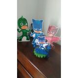 Héroes En Pijama-cotillon-pj Mask-decoración Cumple - Torta