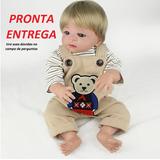 Boneca Bebê Reborn Menino De Silicone Com Roupinhas Barato