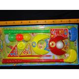 Golf Color Infantil 4 Bolas 2 Tacos 2 Alvos Com Bandeira