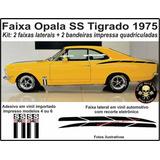 Adesivo Faixa Lateral Automotivo Opala Ss 1975 Tigrado
