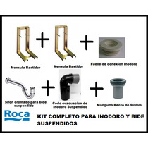 Kit Roca Suspendido De Colgar Inodoro Bidet Completo