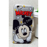 Capinha Capa Case Iphone 6/6s Silicone Mickey Pose Linda