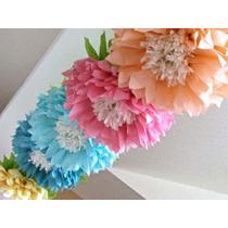 Flores Mariposas De Papel Seda 15cm