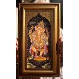 Cuadro Ganesh Lakshmi Diosa Dla Fortuna India Oriental Hindu