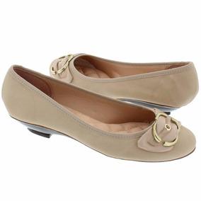 Sapato Sapatilha Moleca Feminina Bege Salto Baixo 5057255