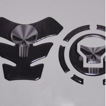 Protetor 3d Tanque Tankpad + Bocal Pun02 Moto Honda Bros 160