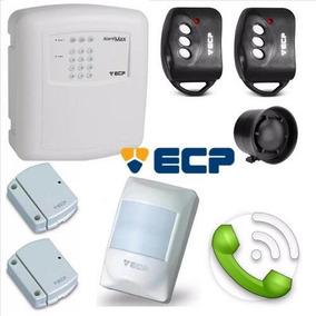 Kit De Alarme Residencial Ecp Alard Max4 C/ Sensores Sem Fio
