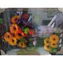 Quadro Lindas Flores Margarida Num Vaso 70x50cm