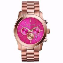 Relógio Michael Kors Mk5931 Rose Grande Fundo Rosa V30