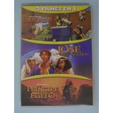 Dvd Triplo O Príncipe Do Egito + José O Rei Dos Sonhos + Sem
