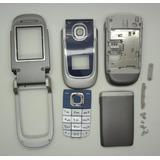 Carcaça Completa Celular Nokia 2760 Flip Azul Escuro