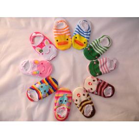 Meia Sapatinho Bebe Antiderrapante Bichinho Kit 3 Pares