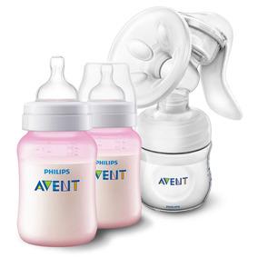 Kit Biberones Baby Girl + Extractor De Leche Philips Avent
