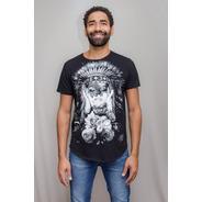 Camiseta Premium Estampada Índia Lovers Corte A Fio