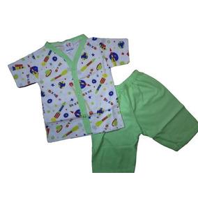 Pijama Bebê Infantil Verão Short Camiseta Menino 100%algod